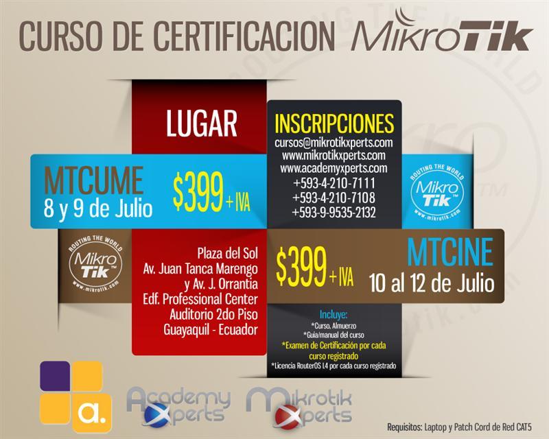 Alive Solutions realizará treinamentos no Equador em parceria com a gigante MikroTik Xperts
